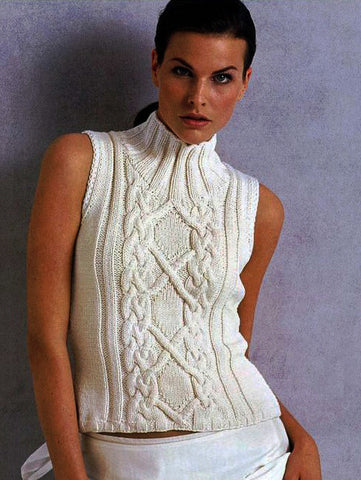 Womens Hand Knit Wool Turtleneck Sweater 65K - KnitWearMasters