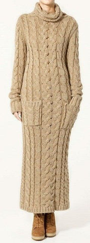 Women's Hand Knitted Dress 2E - KnitWearMasters