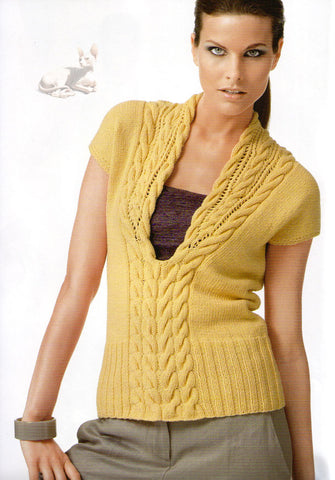 Womens Hand Knit Wool Vest 52N