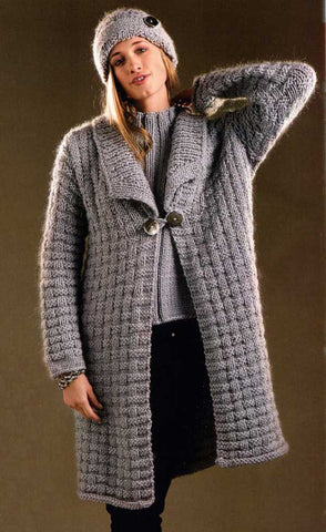 Womens Long Hand Knit Coat 50F