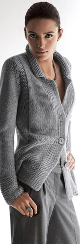 Womens Hand Knit Wool Cardigan 30D