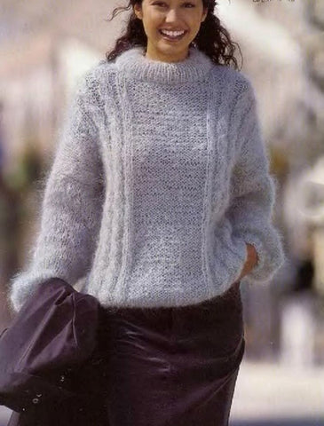 Womens Hand Knit Mohair Sweater 62G