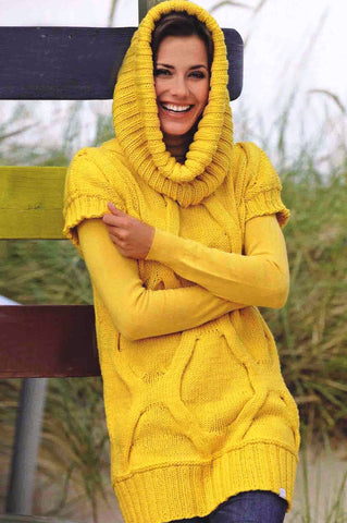 Women's Hand Knit Crew Neck Sweater and Snood 48H - KnitWearMasters
