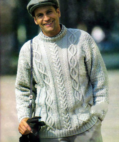 Men's Hand Knit Sweater 220B - KnitWearMasters
