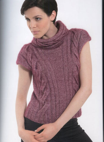 Women's Hand Knit Cowl Neck Sweater 58H - KnitWearMasters