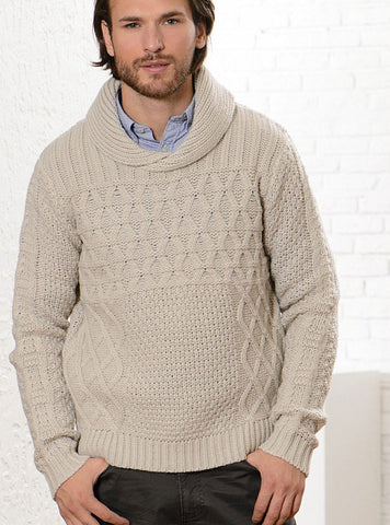 Men's Hand Knit Sweater 195B