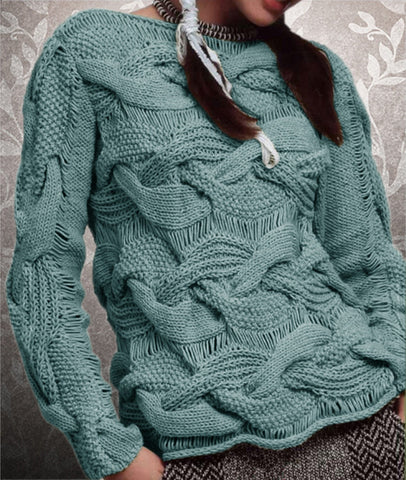Women's Hand Knitted Boatneck Sweater 10C - KnitWearMasters