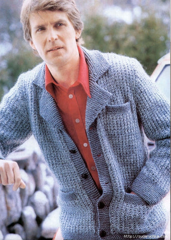 MENS HAND KNITTED WOOL CARDIGAN 86A - KnitWearMasters