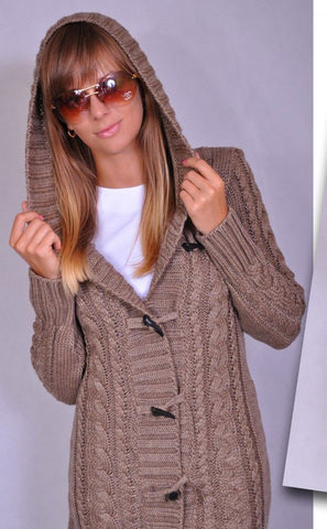 Womens Hand Knit Cardigan.89D