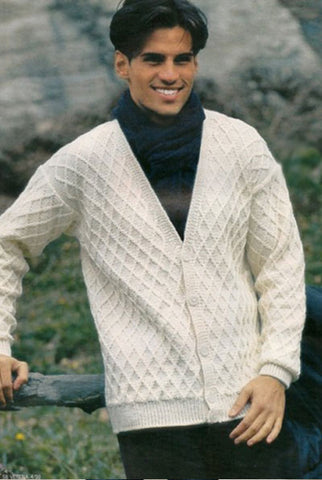 MENS HAND KNITTED WOOL CARDIGAN 88A