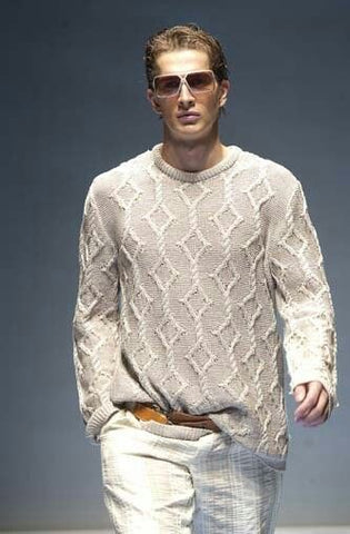 Men's Hand Knitted Crewneck Sweater 56B - KnitWearMasters