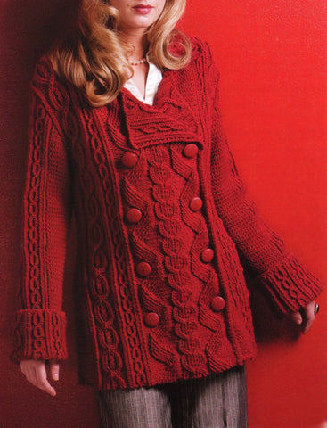 Women's Hand Knitted Wool Coat  7F