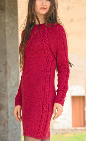 Women's Hand Knitted Dress 6E - KnitWearMasters