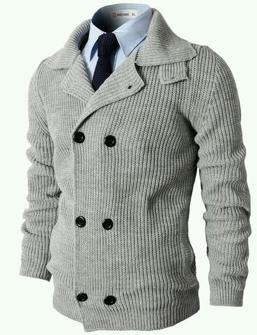 MADE TO ORDER MEN HAND KNIT CARDIGAN 127A