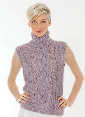 Womens Hand Knit Wool Vest 37N
