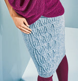 Women's Hand Knit Skirt 54E - KnitWearMasters