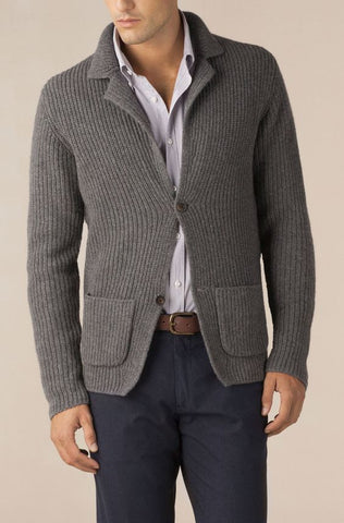MADE TO ORDER MEN HAND KNIT JAKET 116A - KnitWearMasters