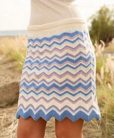 Women's Hand Knit Skirt 72E - KnitWearMasters