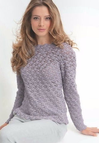 Made-to-order Women Crochet Blouse, 22S - KnitWearMasters
