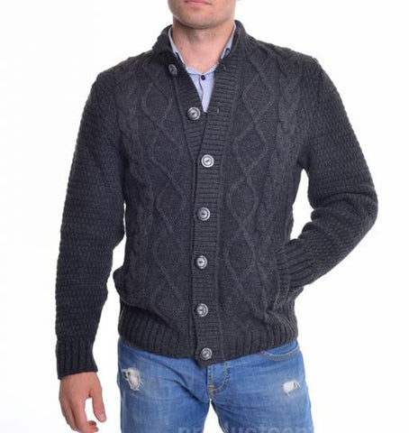 MENS HAND KNITTED WOOL CARDIGAN 90A - KnitWearMasters