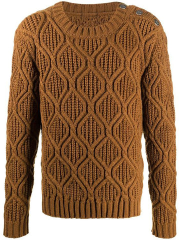 Men's Hand Knit Crew Neck Sweater 299B - KnitWearMasters