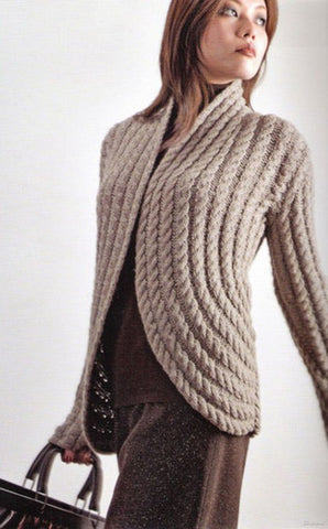 Women's Hand Knitted Wool Cardigan 9D - KnitWearMasters