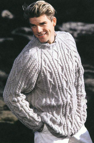Men's Hand Knitted Turtleneck Wool Sweater 4B