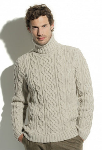 Men's Hand Knitted Turtleneck Sweater 11B - KnitWearMasters