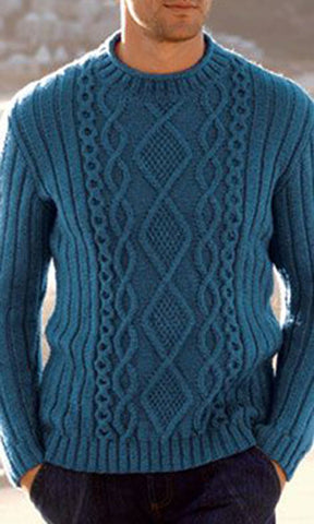 Men's Hand Knitted Crewneck Sweater.17B - KnitWearMasters