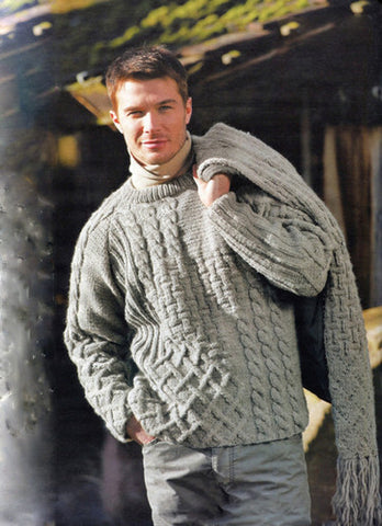 Men's Hand Knitted Crewneck Sweater 19B - KnitWearMasters