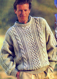 Men's Hand Knitted Wool Crewneck Sweater 21B
