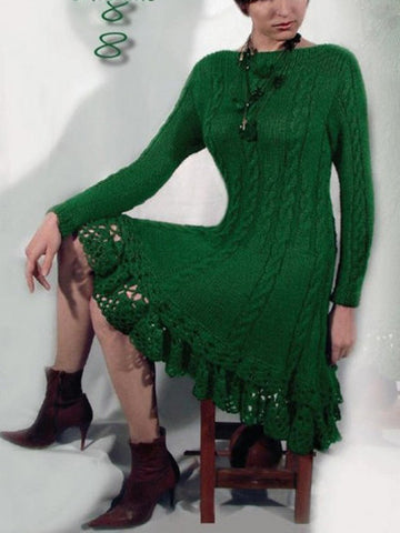 Women's Hand Knitted Dress 11E - KnitWearMasters