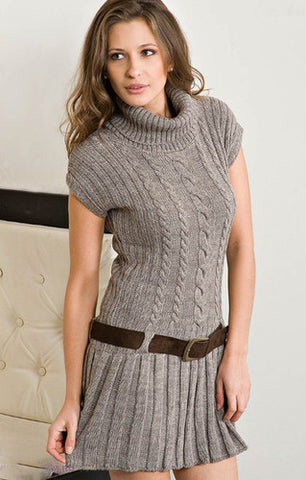 Women's Hand Knitted Dress 13E - KnitWearMasters