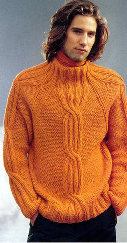 Men's Hand Knitted Wool Turtleneck Sweater 44B - KnitWearMasters