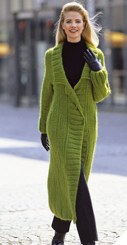 Women's Hand Knitted Long Coat  9F