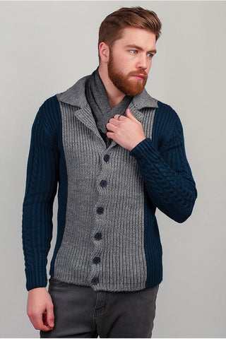 MENS HAND KNITTED WOOL CARDIGAN 89A - KnitWearMasters