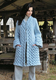 Womens Hand Knit Wool Coat.33F
