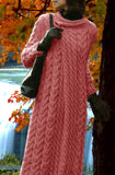 Women's Long Hand Knitted Wool Coat 4F - KnitWearMasters