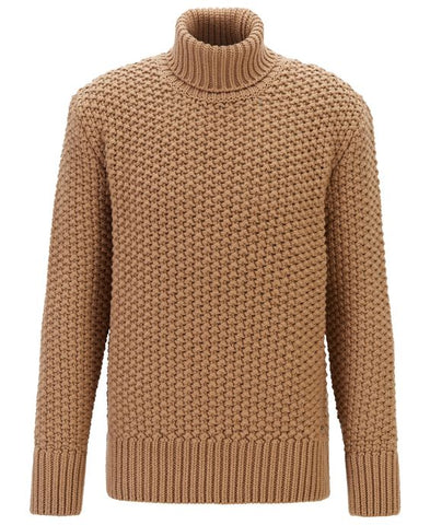 Men's Hand Knit Turtleneck Sweater 302B - KnitWearMasters