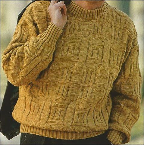Men's Hand Knit Turtleneck Sweater 306B - KnitWearMasters