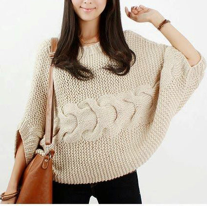 Women's Hand Knit Boatneck Sweater 63C