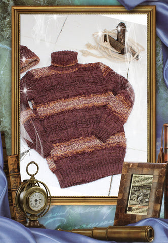 Men's Hand Knitted Turtleneck Sweater 30B - KnitWearMasters