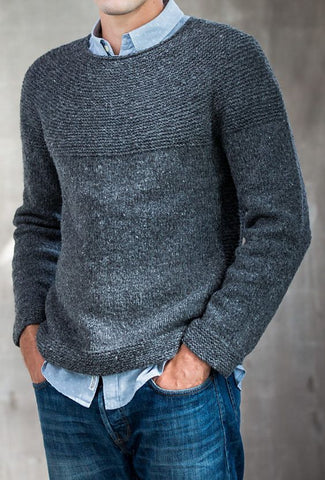 Men's Hand Knit Crew Neck Sweater 296B - KnitWearMasters