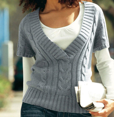 Womens Hand Knit Wool Vest 39N