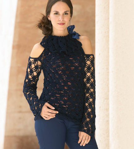 Made-to-order Women Crochet Blouse, 1S - KnitWearMasters