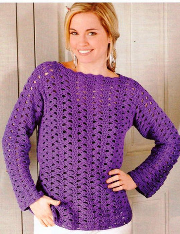 Made-to-order Women Crochet Blouse, 2S - KnitWearMasters