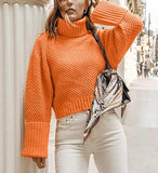 Women's Hand Knit Turtleneck Sweater 97K - KnitWearMasters