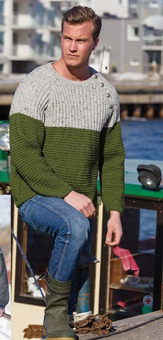 Men's Hand Knitted Crewneck Sweater 57B - KnitWearMasters