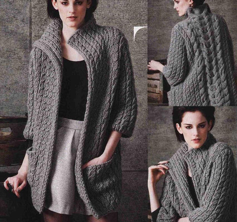 Womens Hand Knit Cardigan.98D