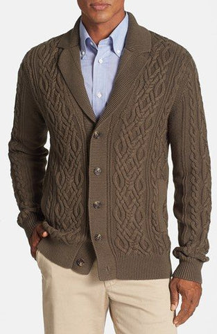MADE TO ORDER MEN HAND KNIT JACKET 123A